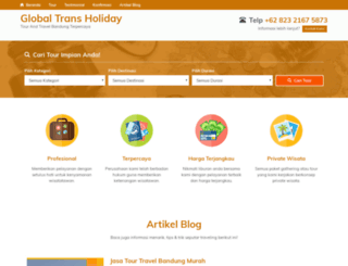 globaltransholiday.com screenshot