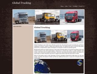 globaltrucking.yolasite.com screenshot