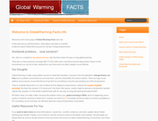 globalwarming-facts.info screenshot