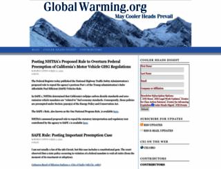 globalwarming.org screenshot