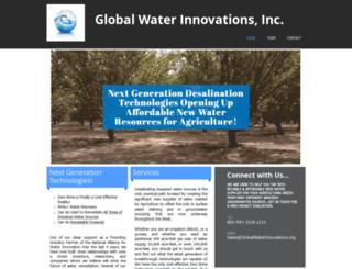 globalwaterinnovations.org screenshot
