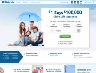 globelife-insuranceoffer.com screenshot