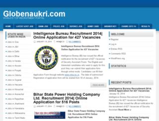 globenaukri.com screenshot