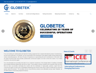 globetek.in screenshot