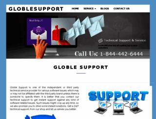 globlesupport.com screenshot