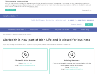 glohealth.ie screenshot
