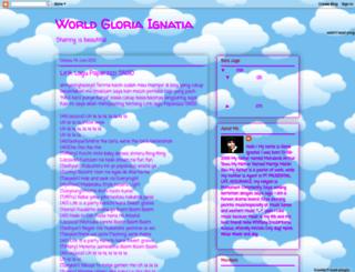 gloriaignatia.blogspot.com screenshot