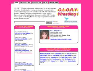 glorywrestling.com screenshot