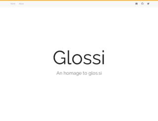 glos.si screenshot