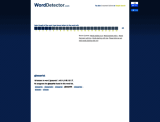 glossarist.worddetector.com screenshot