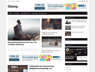 glossy-soratemplates.blogspot.com screenshot