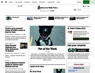 gloucestertimes.com screenshot