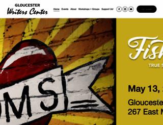 gloucesterwriters.org screenshot