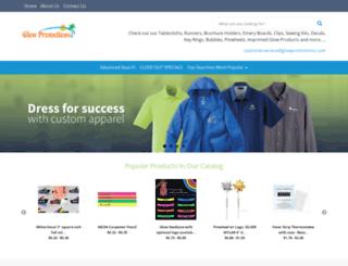 glowpromotions.com screenshot