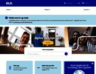 gls.dk screenshot