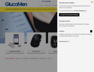 glucomen.co.uk screenshot