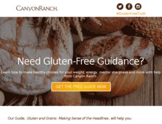 glutenfree.canyonranch.com screenshot