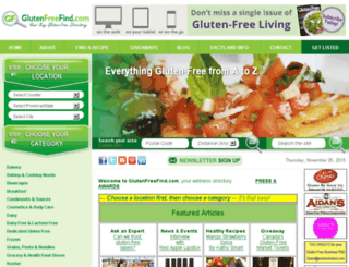 glutenfreefind.com screenshot