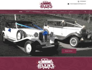 glynsweddingcars.co.uk screenshot