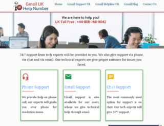 gmailhelpnumber.uk screenshot