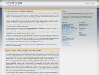 gmaillogin.wordpress.com screenshot