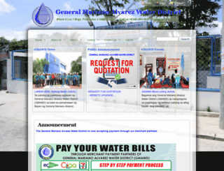 gmawaterdistrict.com screenshot