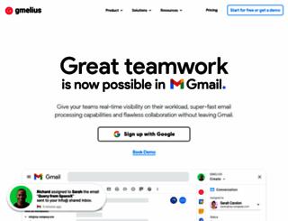 gmelius.com screenshot