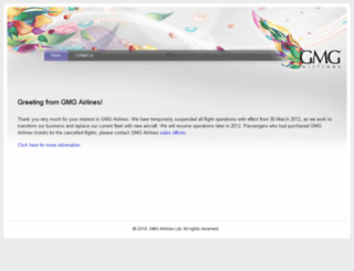 gmgairlines.com screenshot