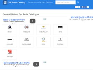 gmpartscatalog.com screenshot
