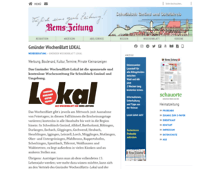 gmuender-wochenblatt.de screenshot