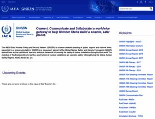 gnssn.iaea.org screenshot