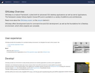 gnustep.orange-concept.com screenshot