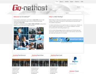 go-nethost.com screenshot