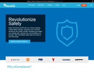 go.ecompliance.com screenshot