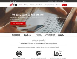 go.efax.com screenshot