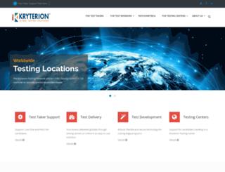 go.kryteriononline.com screenshot