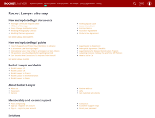 go.rocketlawyer.com screenshot