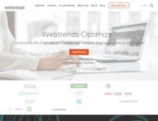 go.webtrends.com screenshot
