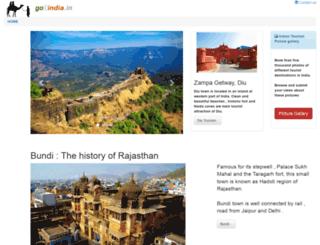 go2india.in screenshot