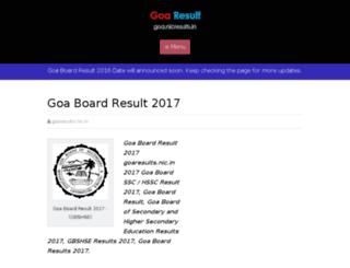 goa.nicresults.in screenshot