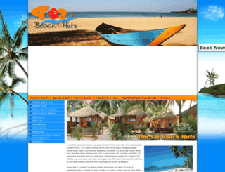 goabeachhuts.com screenshot