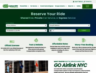 goairlinkshuttle.com screenshot