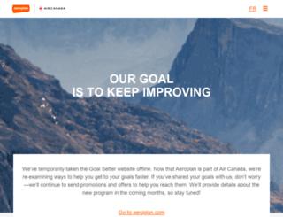 goals.aeroplan.com screenshot