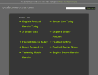 goalscoresoccer.com screenshot