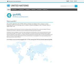 goaml.unodc.org screenshot