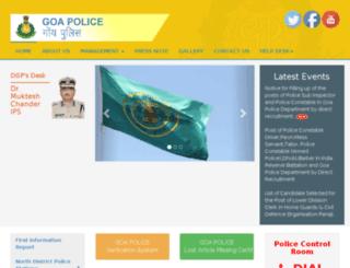 goapolice.org screenshot