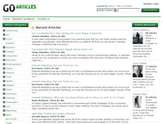 goarticles.com screenshot