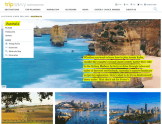 goaustralia.about.com screenshot