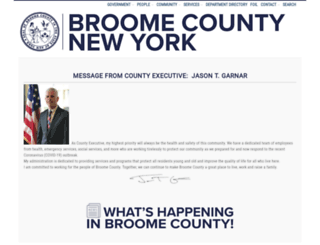 gobroomecounty.com screenshot
