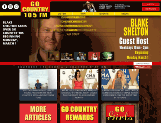 gocountry105.com screenshot